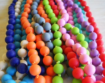 SALE!!! BPA Free Silicone Large Bead Necklace!!! Perfect For Any Outfit!!