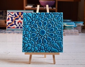 Turkish tile Seljuk Wall Tile Relief Handmade tile from Turkey