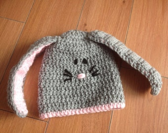 Crochet rabbit hat
