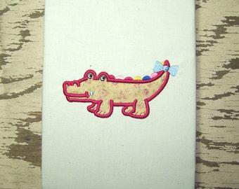 Croc Crocodile Applique Machine Embroidery Design Pattern - Instant Download