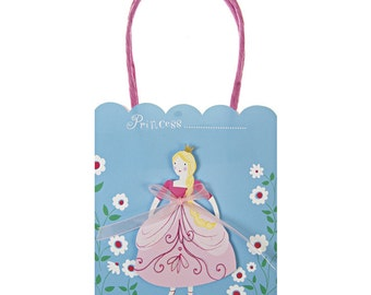 Princess Party Bags | Princess Party | Party Bags | Paper Bags | Paper Bags | 8 per Pack | Princess Bags | Treat Bags
