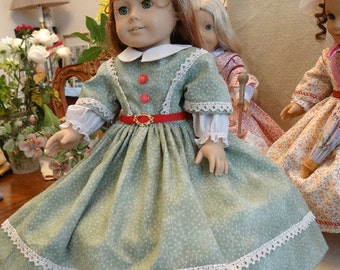 1850's Day Dress for 18 inch Dolls