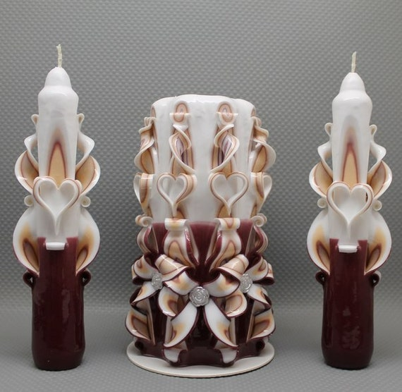 Beautiful candles carved Сandles gift unique