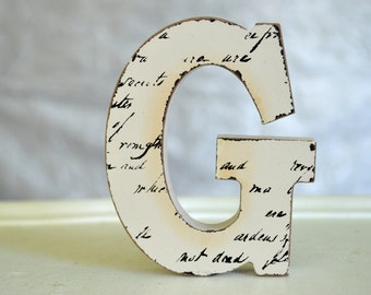 wood block letters decor