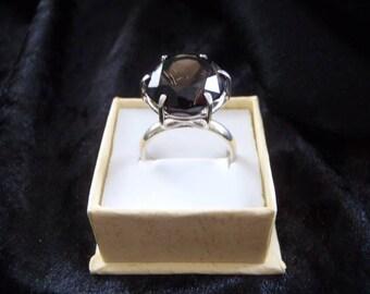 SMOKEY QUARTZ SILVER ring 925 handmade