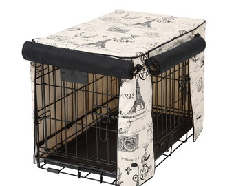 Parisian Black Stagecoach Crate Cover