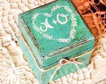 Wedding Ring Box Personalized I do, Personalized Wood Box, Ring Bearer Box , Custom ring box, Rustic Ring Box, Rustic Wood Box, Ring box