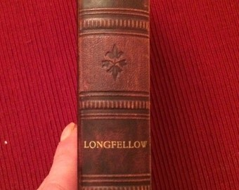 Longfellows Poems Antique Book
