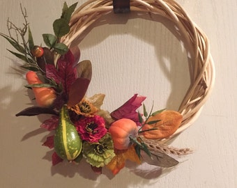 Handmade Mini artificial Fall Wreath