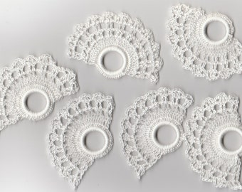 Crochet 6 napkin rings