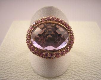 9ct Rose Gold Amethyst Ring