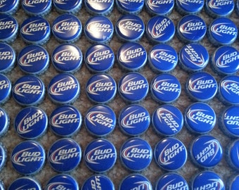100 BUDLIGHT Beer bottle caps NO DENTS!