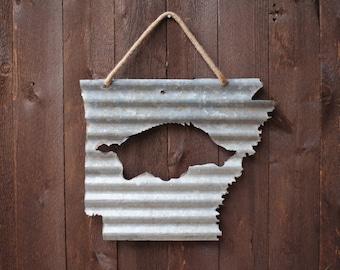 Arkansas Shape With Official Razorback Logo