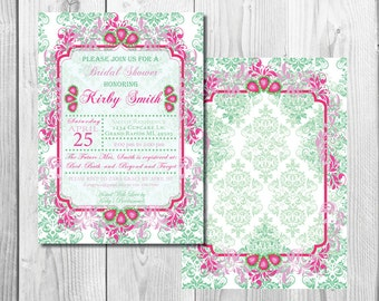 Mint and Pink Bridal Shower Invite
