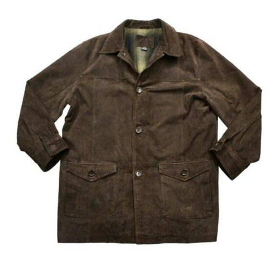 vintage leather jacket knightsbridge brown by indieclubvintagellc. Black Bedroom Furniture Sets. Home Design Ideas