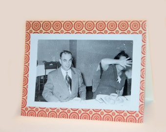 Vintage greeting card with original photograph from the 1950's