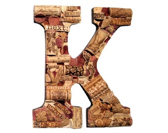 Wine Cork Letter | Handmade and Customized | We Have EVERY Letter