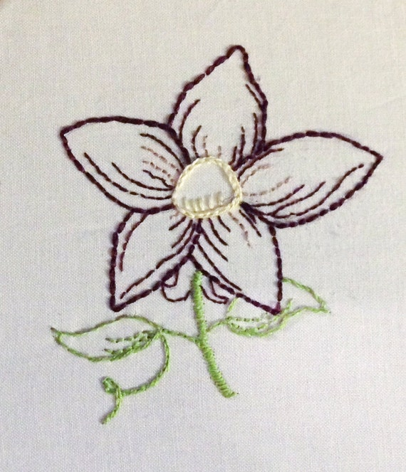 Sale hand embroidery patterns redwork designs fancy flowers in