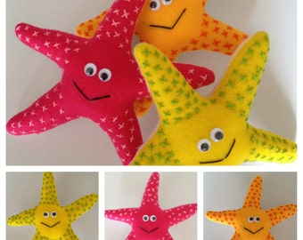 Custom Adorable Stuffed Starfish Plush Toy for Babies and Toddlers