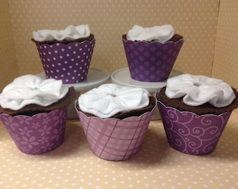 Purple Cupcake Wrappers-set of 10