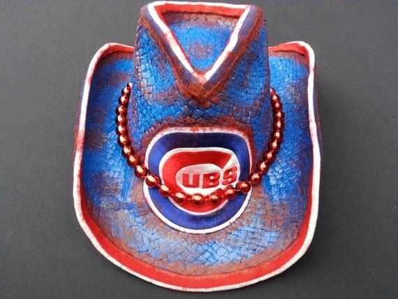 Chicago cubs western straw cowboy hat fanhatics on etsy jpg 570x427 Cowboy  style hat chicago 56abc5580b7