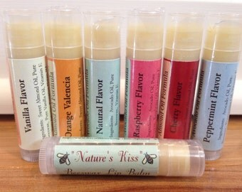 All natural lip balm made out of 100% beeswax and two oil bases.