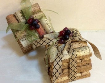 Gift Set of 4 Cork Coasters