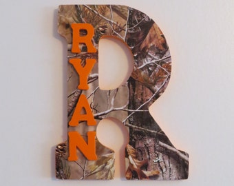 Camo Custom Wall Letter, Camo Letter, Boys room decoration, Name art, Wall letters, hanging letters, Hunting letter, hunting decor, boy camo