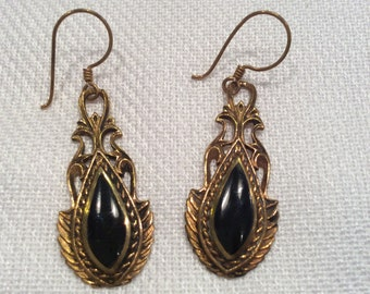 Egyptian Victorian style hook earrings