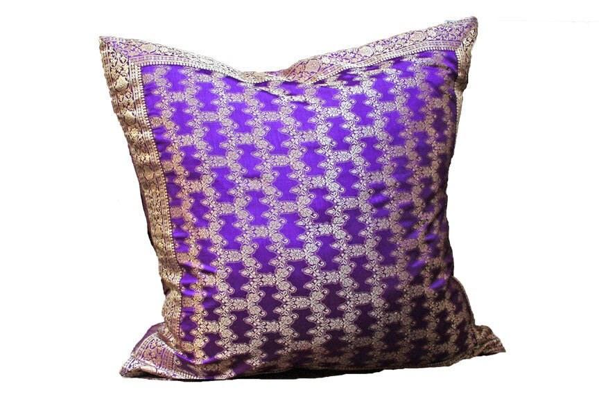 Purple Pillow cover 24x24 Decorative pillow throw by TaraDesignLA