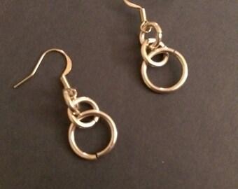 3 Tier Chain Mail Drop Earrings