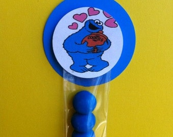 Cookie Monster Inspired Party Favor