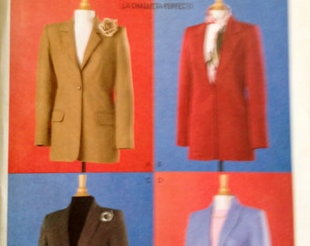 McCall's 4598 Misses lined Jacket,  The jacket has princess seams, front darts size 8-14