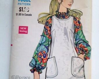 VINTAGE VOGUE  1960S patten # 7789  misses one piece jumper and blouse Size 12