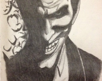 Black and white Joker with bats