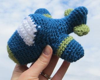 Crochet Amigarumi Plane Kids Toy Plush