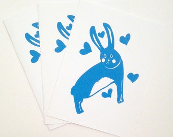 HASE (3 greeting cards with envelopes)