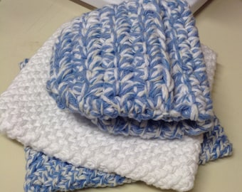 Double Thickness Kitchen Potholder and Oven Mitt Set