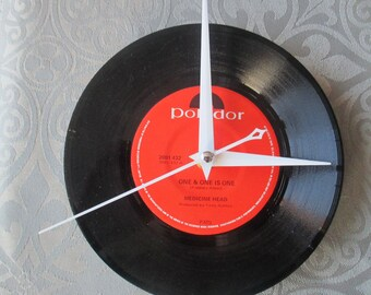 Medicine Head Record Vinyl Clock 7' NEW Time Piece One & One is One