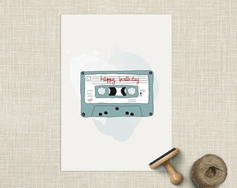 Happy birthday card (tape)