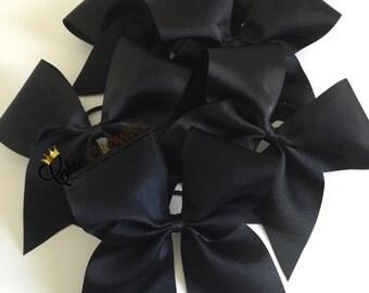 Plain Black (Ribbon Only) Cheer Bow 3''