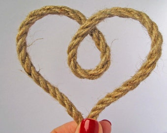 "Jute Cord, Natural Burlag Cord, Nautical Rope, 6mm – 1/4"", Nautical Decor, Wedding, Gift Wrap"