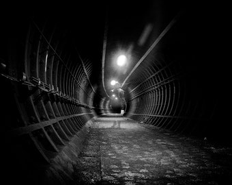 London Fine Art Photo Print : The Ghost in a London Underground Tunnel