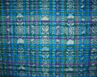 0015Z - Vintage Authentic Guatemalan Tapestry - (Purple & Blue)