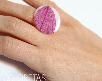 Violet leaf Ring