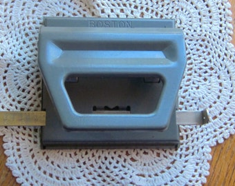 Vintage Boston 2 Hole Paper Punch for Office or Home Use