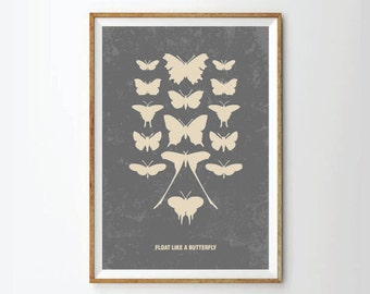 Quote art, quote print, inspirational art, inspirational print, poster, posters, art print, quote poster, butterfly art, butterfly print