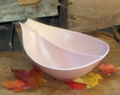 Pink Monterey California Divided Serving Bowl China Serving Bowl 1960s Classic
