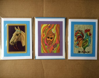 Vintage Playing Card Notecards - Set of 3
