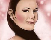 Custom Portrait Illustration from Heavenly Skull